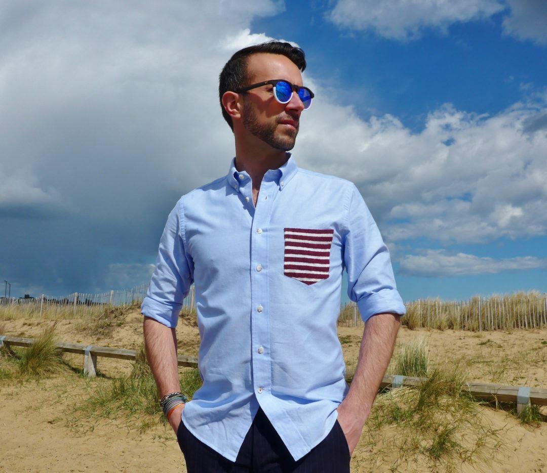 1bd7b92ebb2a4 HAST PARIS revisite la chemise oxford traditionnelle avec sa poche rayée  hyper fraîche!